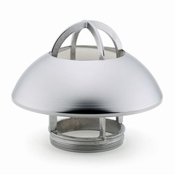 Light fitting with shade chrome-plated brass